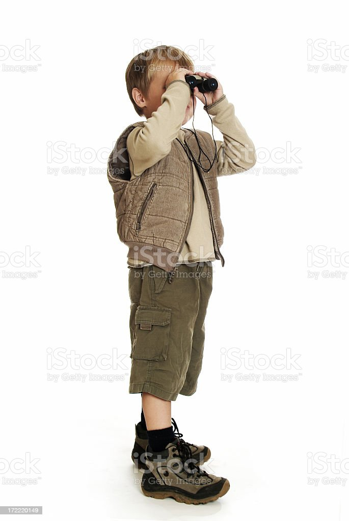 Full Body - Safari Kid 02 stock photo
