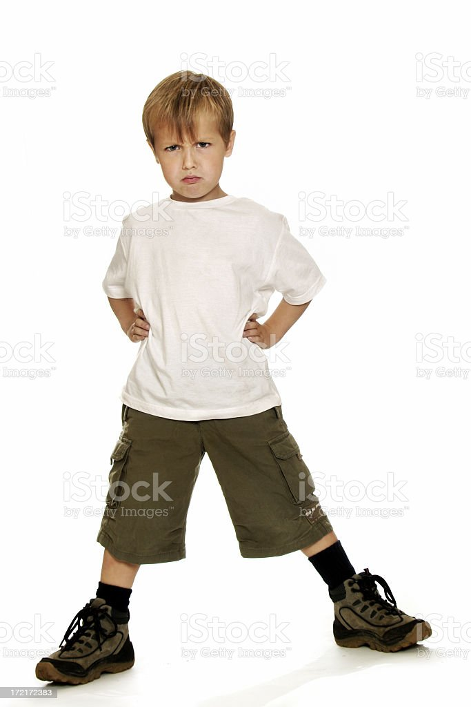 Full Body - Tough Boy stock photo
