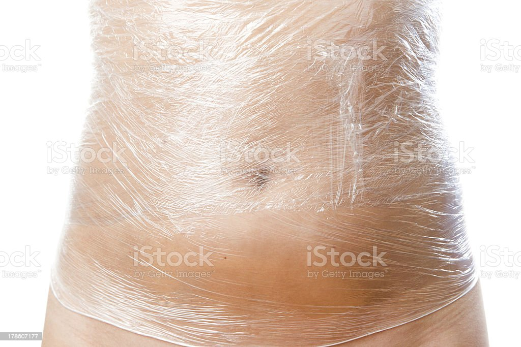 Full body wrap stock photo