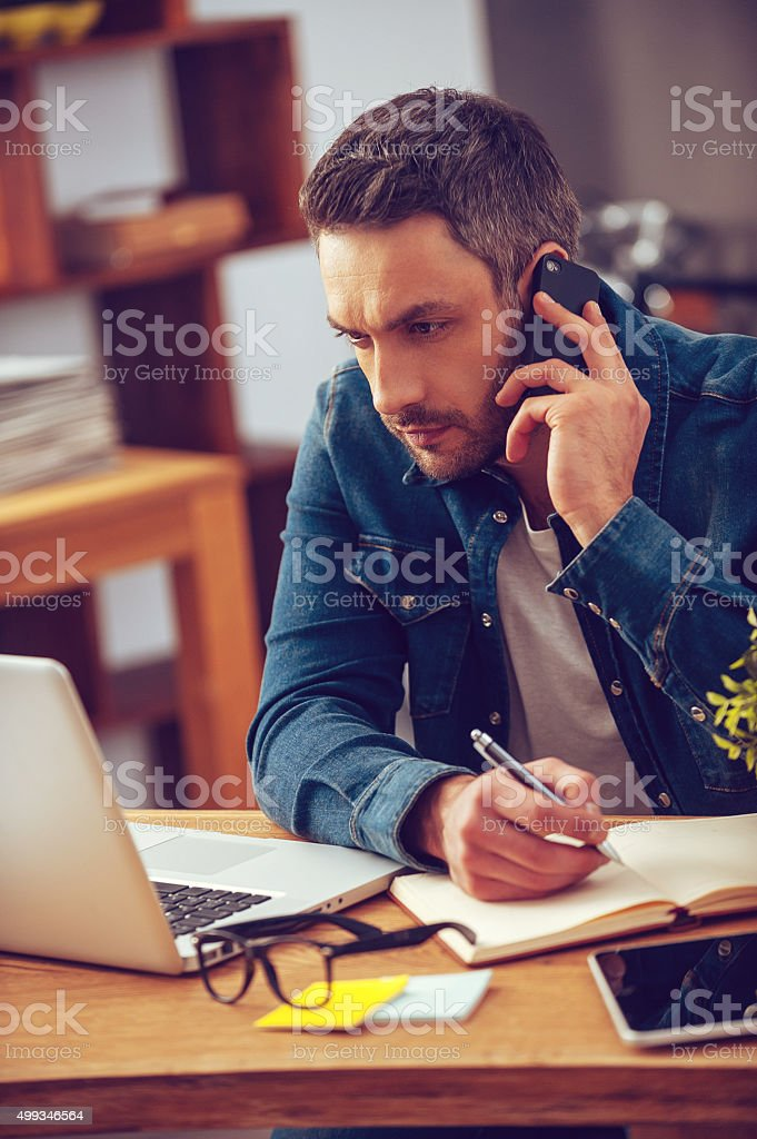 Full concentration. stock photo