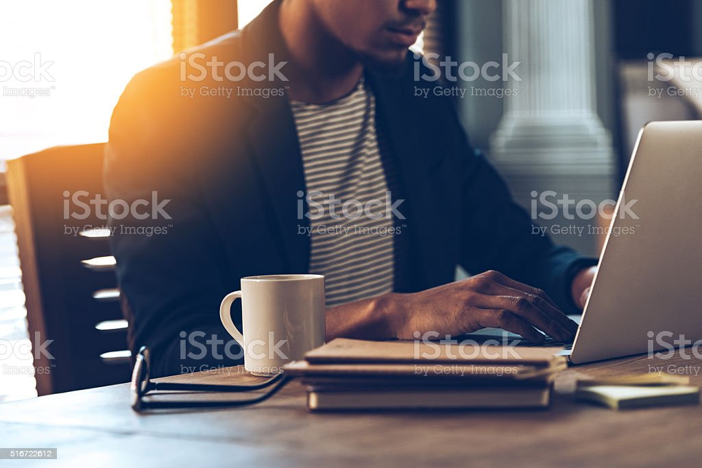 Full concentration. royalty-free stock photo