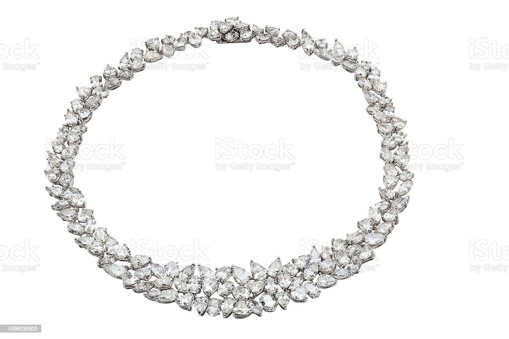 Full Diamond Necklace stock photo