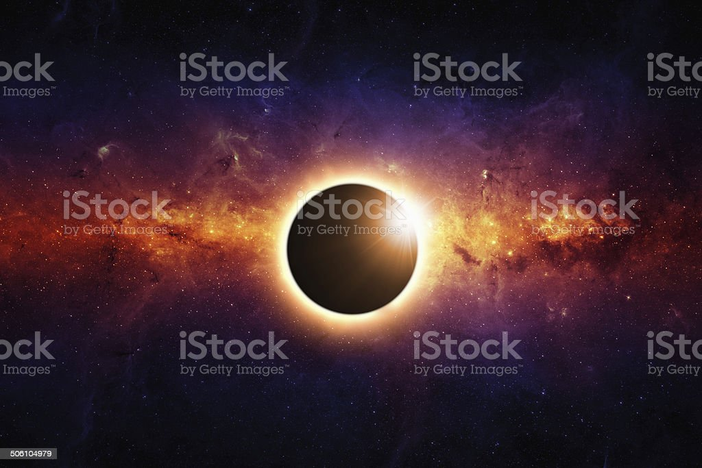 Full eclipse stock photo