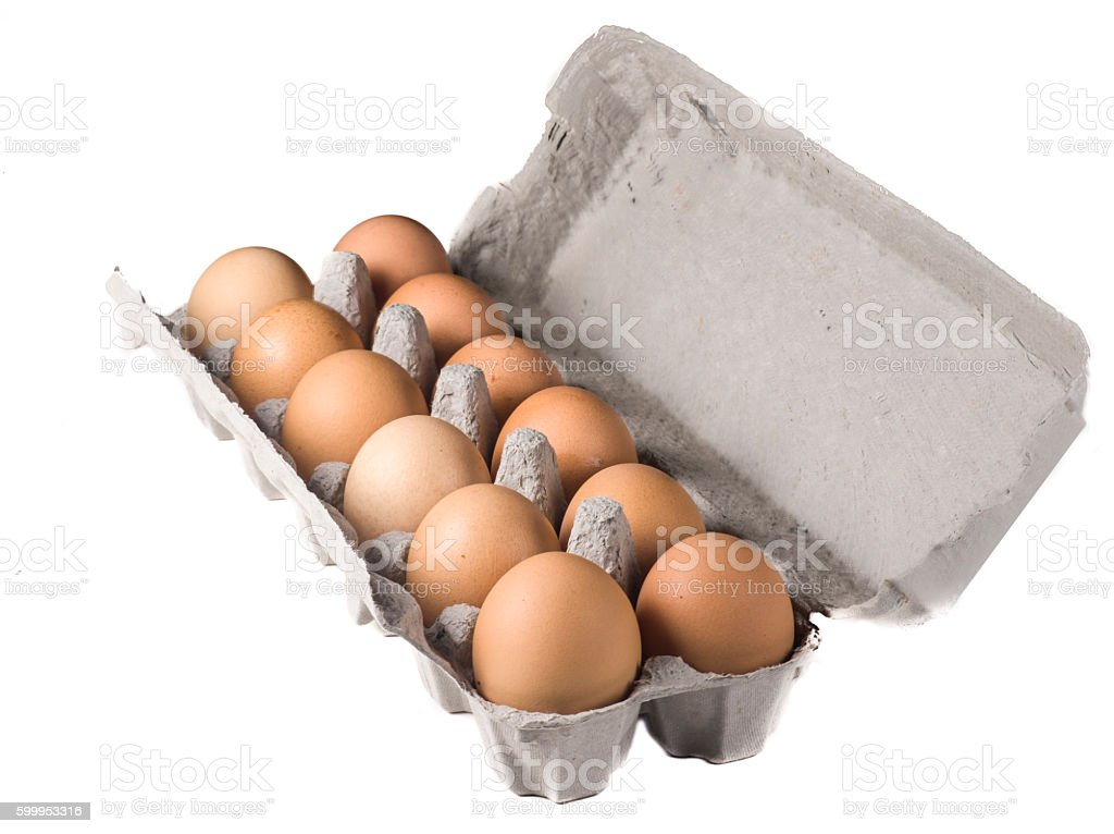 Full egg box stock photo