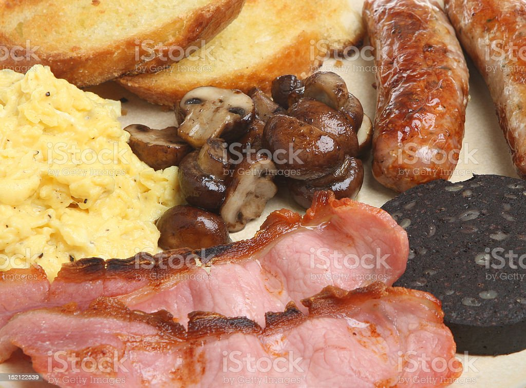 Full English Cooked Breakfast royalty-free stock photo