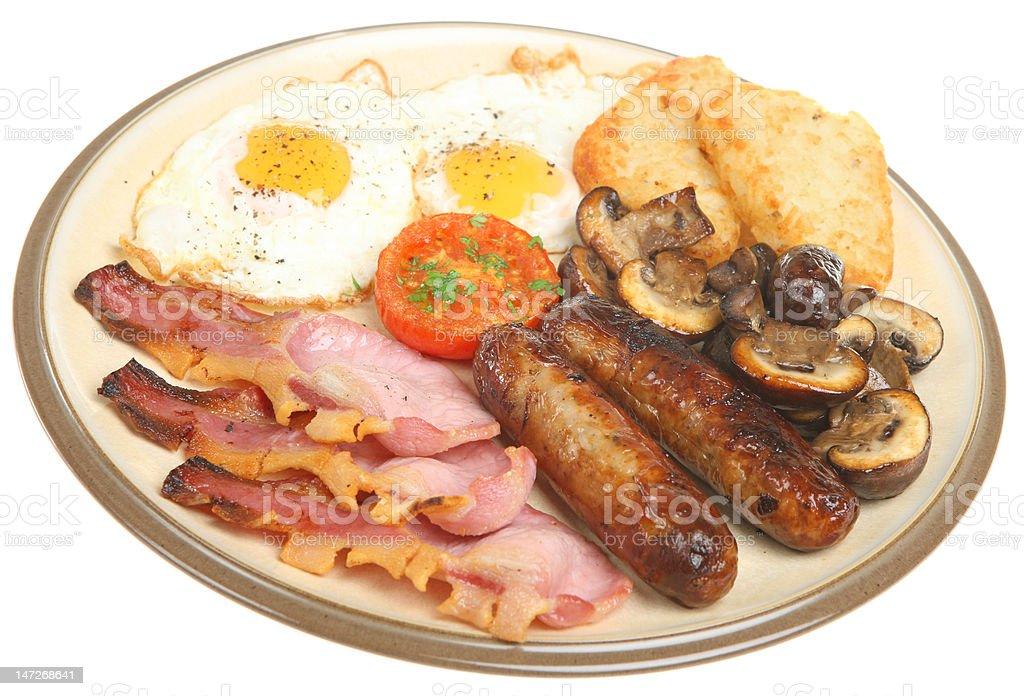 Full English Fried Breakfast royalty-free stock photo