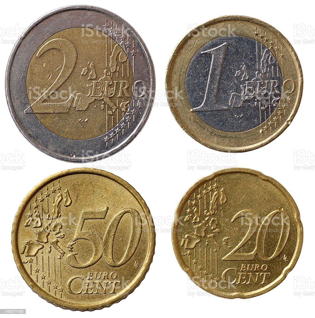 Full euro coins set - part 1 stock photo