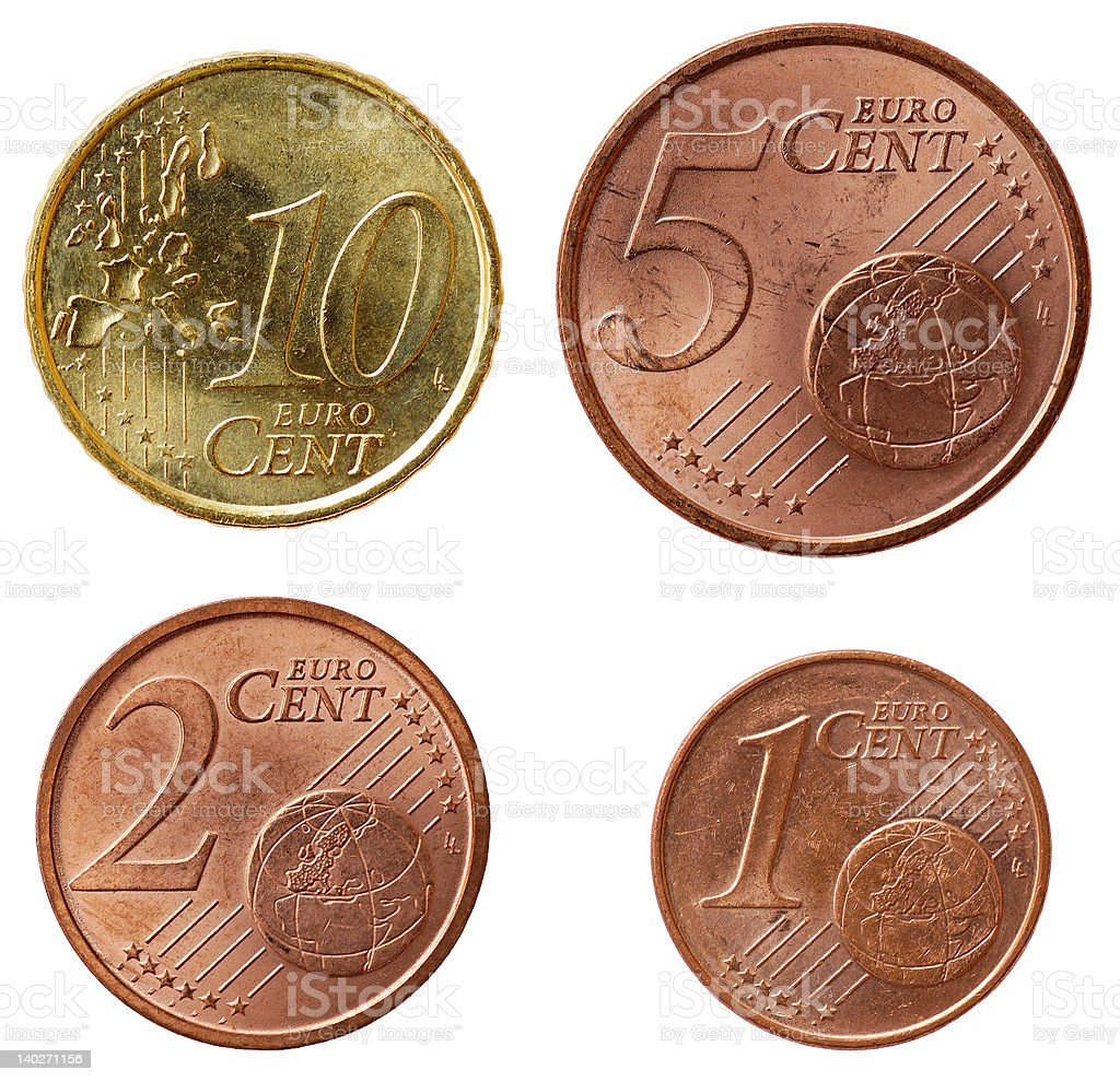 Full euro coins set - part 2 royalty-free stock photo