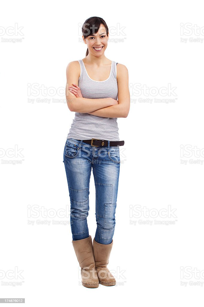 Full figure of beautiful young woman royalty-free stock photo