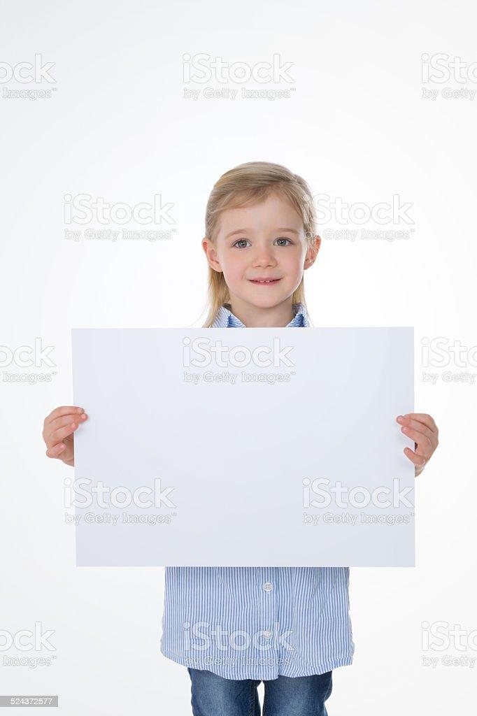 full figure of nice schoolgirl stock photo
