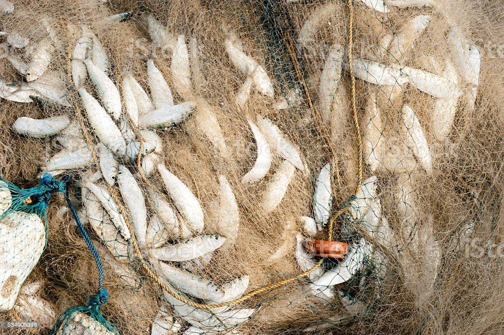 Full fishing net stock photo
