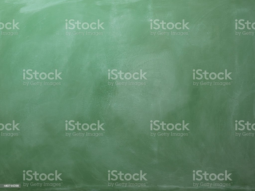 Full Frame Blank Green Blackboard Background With vignette around stock photo