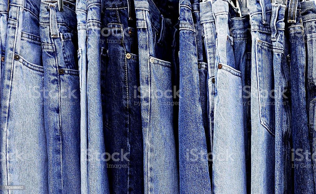 Full Frame Blue Denim Jeans stock photo