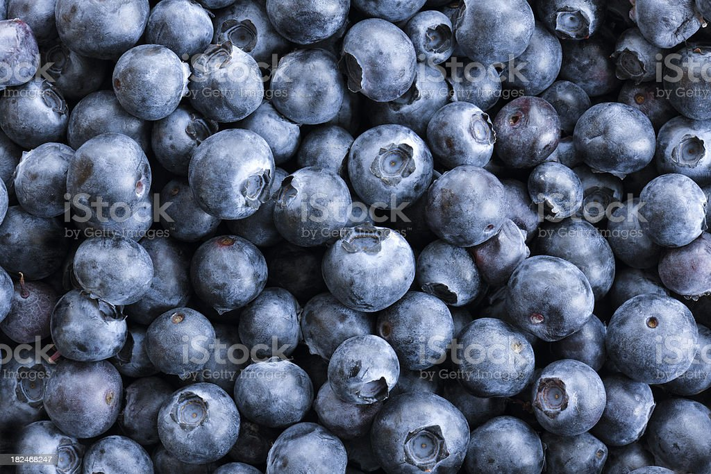 Full frame Close up Background Blueberries, Large Group of Objects stock photo