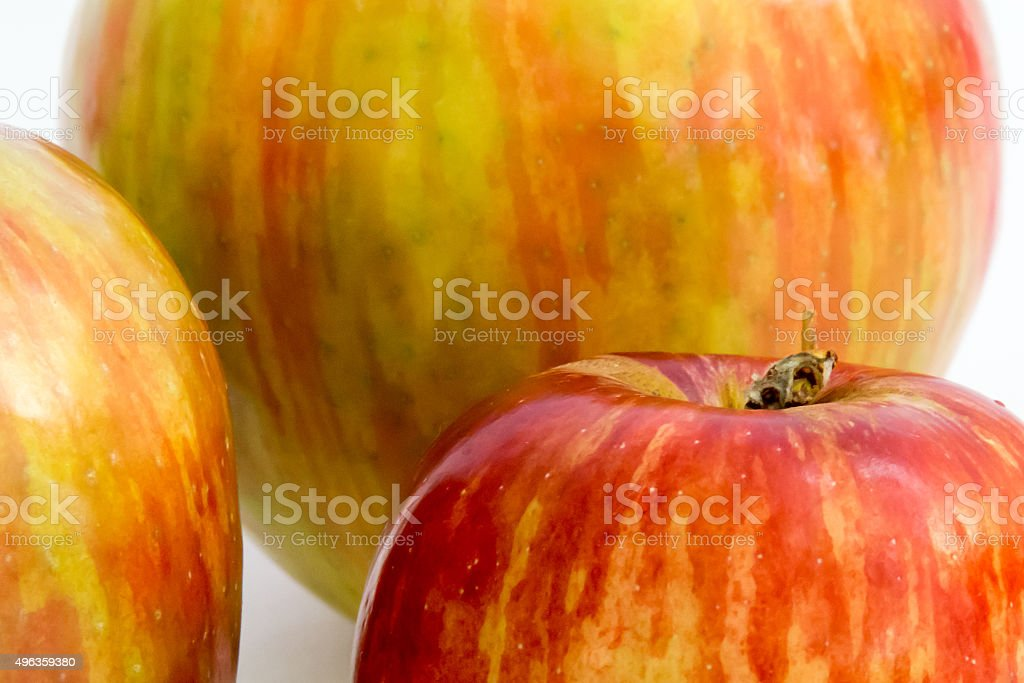 Full frame close up of two tone apples stock photo
