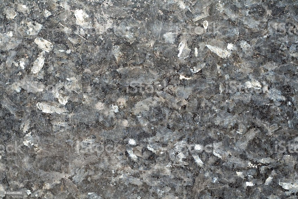 Full Frame Closeup of Black Granite with Large Crystals royalty-free stock photo