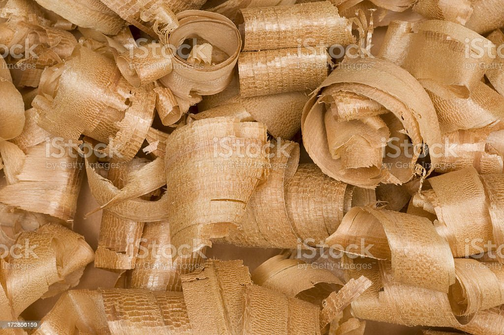 Full Frame Close-up Wood Curl/Shavings #7 royalty-free stock photo