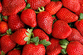 Full Frame Filled with perfectly Ripened Strawberries