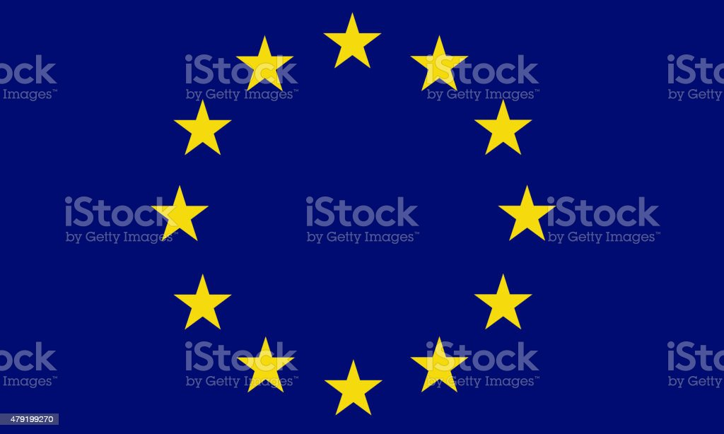 Full frame flag of the European Union stock photo