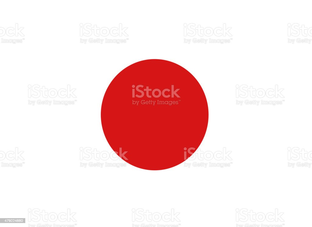 Full frame image of Japanese flag stock photo