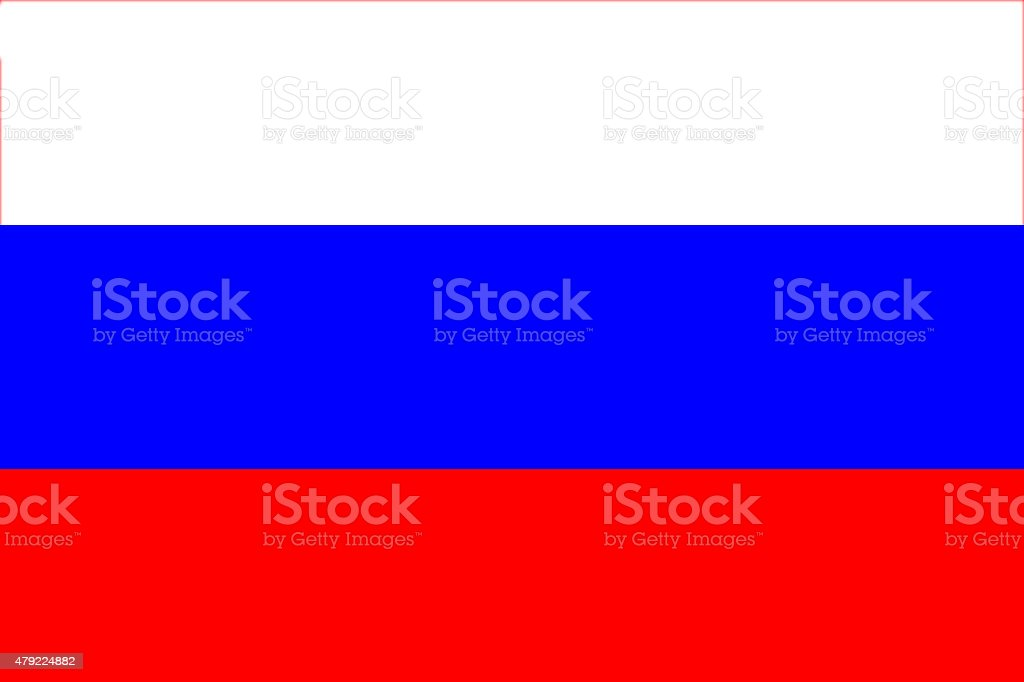 Full frame image of Russian flag stock photo