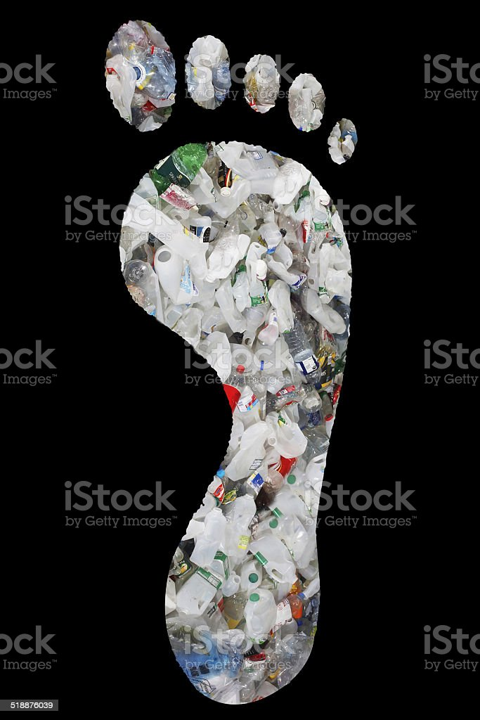 Full Frame Image Of Used Plastic Bottles stock photo