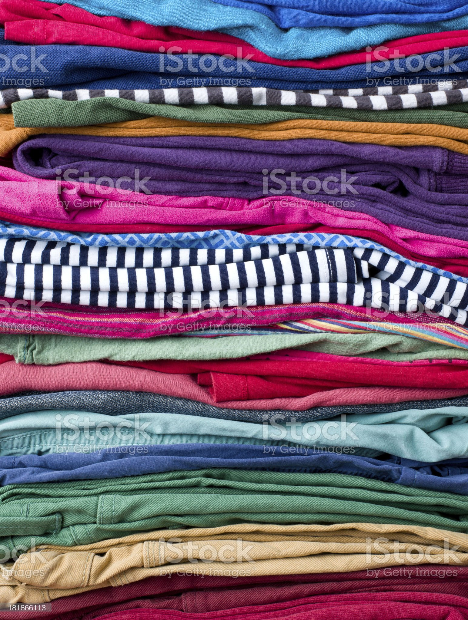 Full Frame Laundry Background royalty-free stock photo