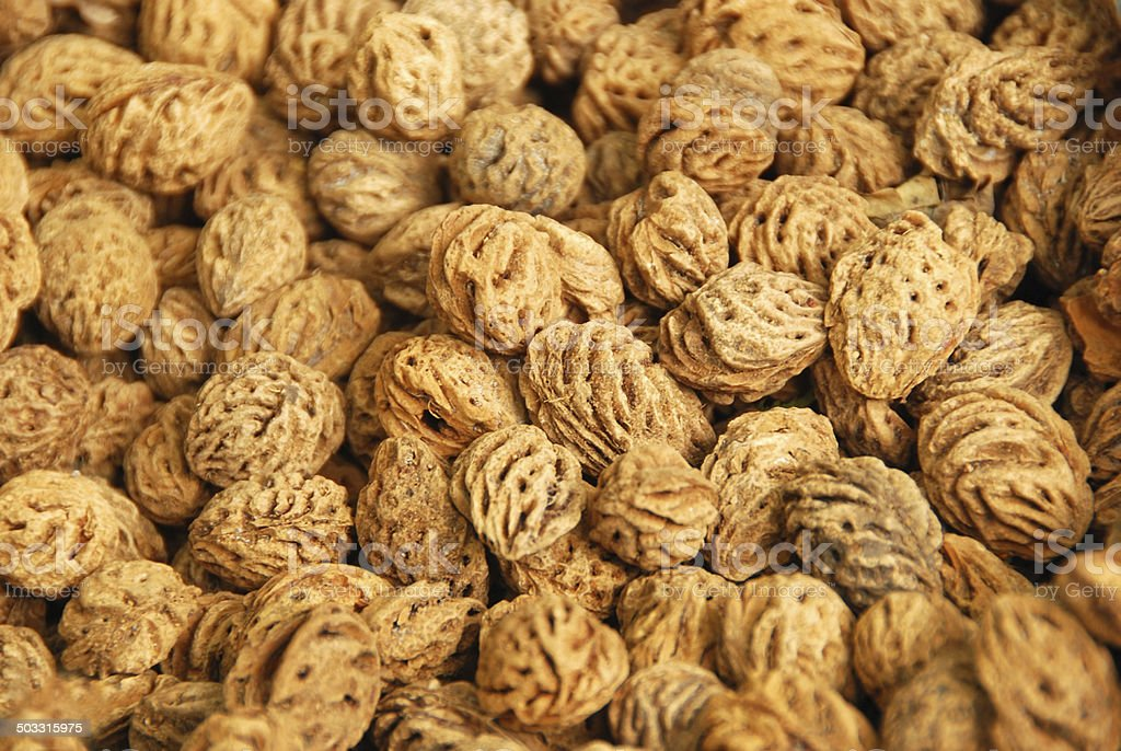 Full frame picture of a heap off peach seed. royalty-free stock photo