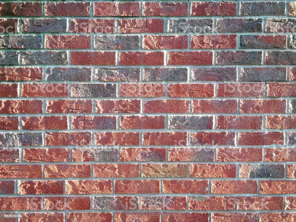 Full frame red brick wall stock photo