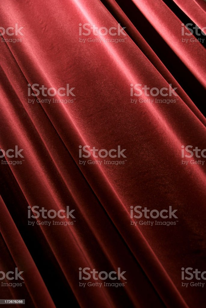 Full Frame Red Velvet Curtain royalty-free stock photo