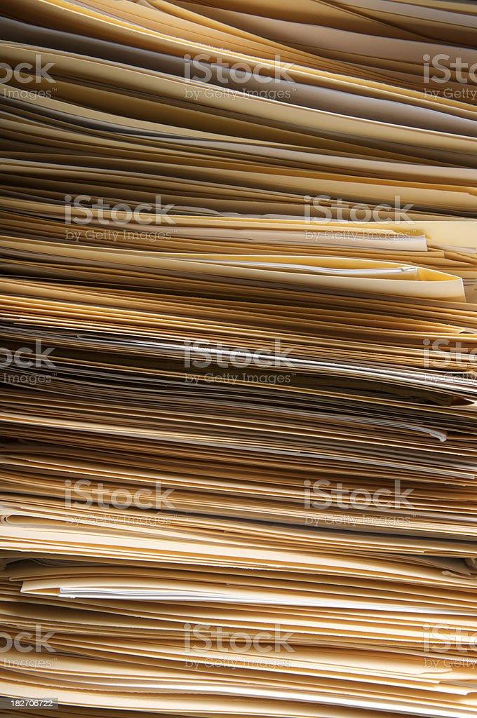 Full Frame Stack of Folders Vertical royalty-free stock photo
