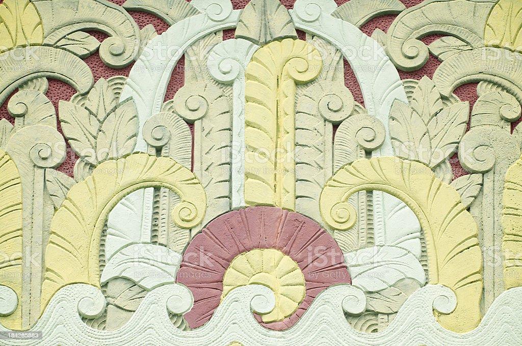 Full Frame Tropical Art Deco Pattern royalty-free stock photo