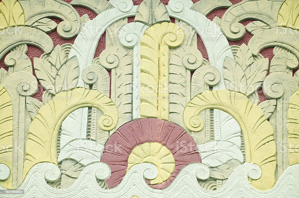 Full Frame Tropical Art Deco Pattern stock photo