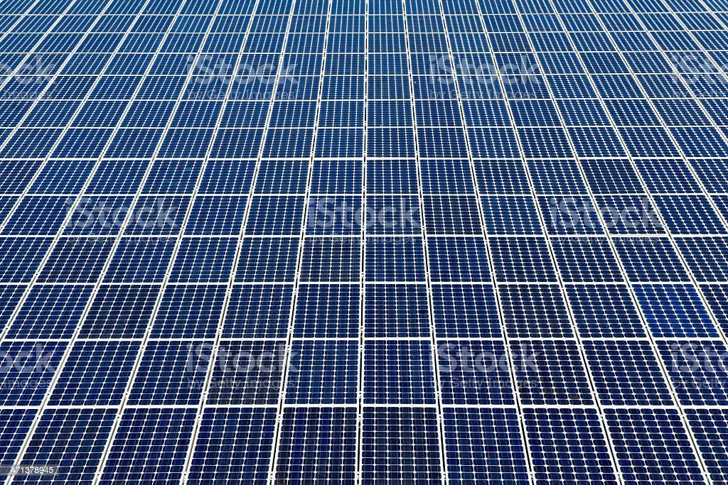 Full frame view of solar panels - with many copyspace royalty-free stock photo