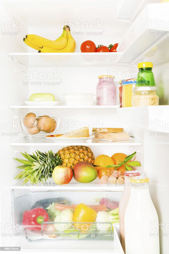 full fridge stock photo