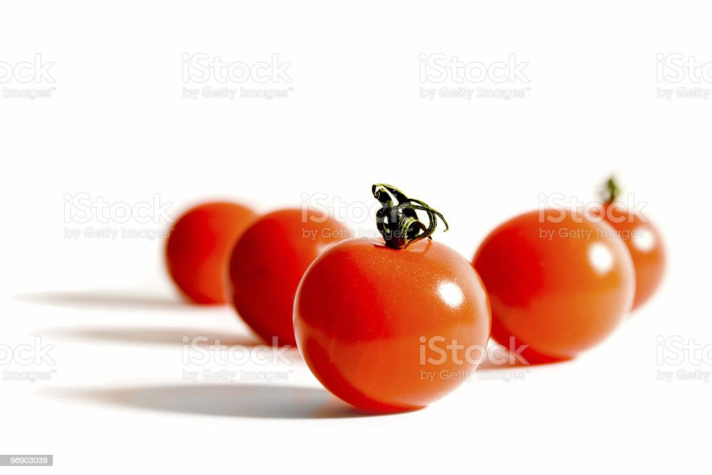 Full Frontal Cherry Tomatoes royalty-free stock photo