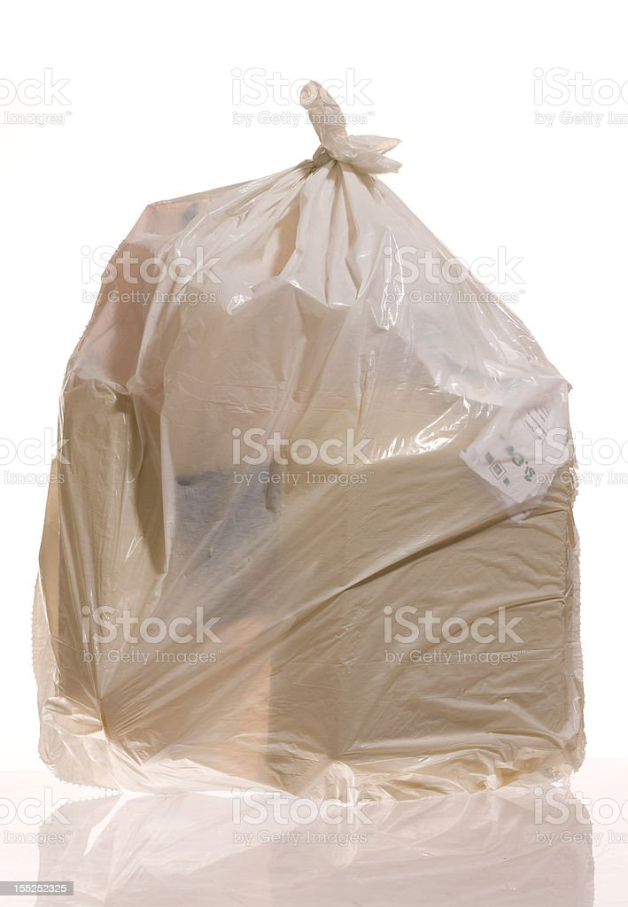 Full garbage bag royalty-free stock photo