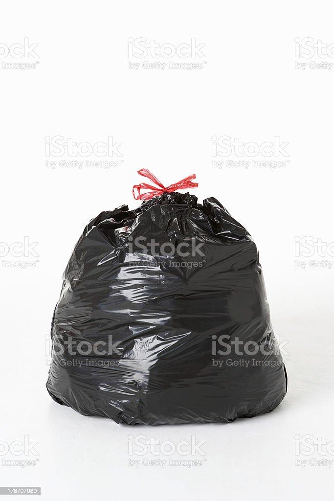 Full garbage sack stock photo