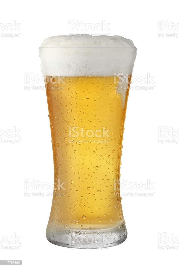 Full Glass Beer royalty-free stock photo