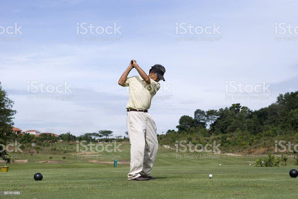 Full Golf Swing royalty-free stock photo