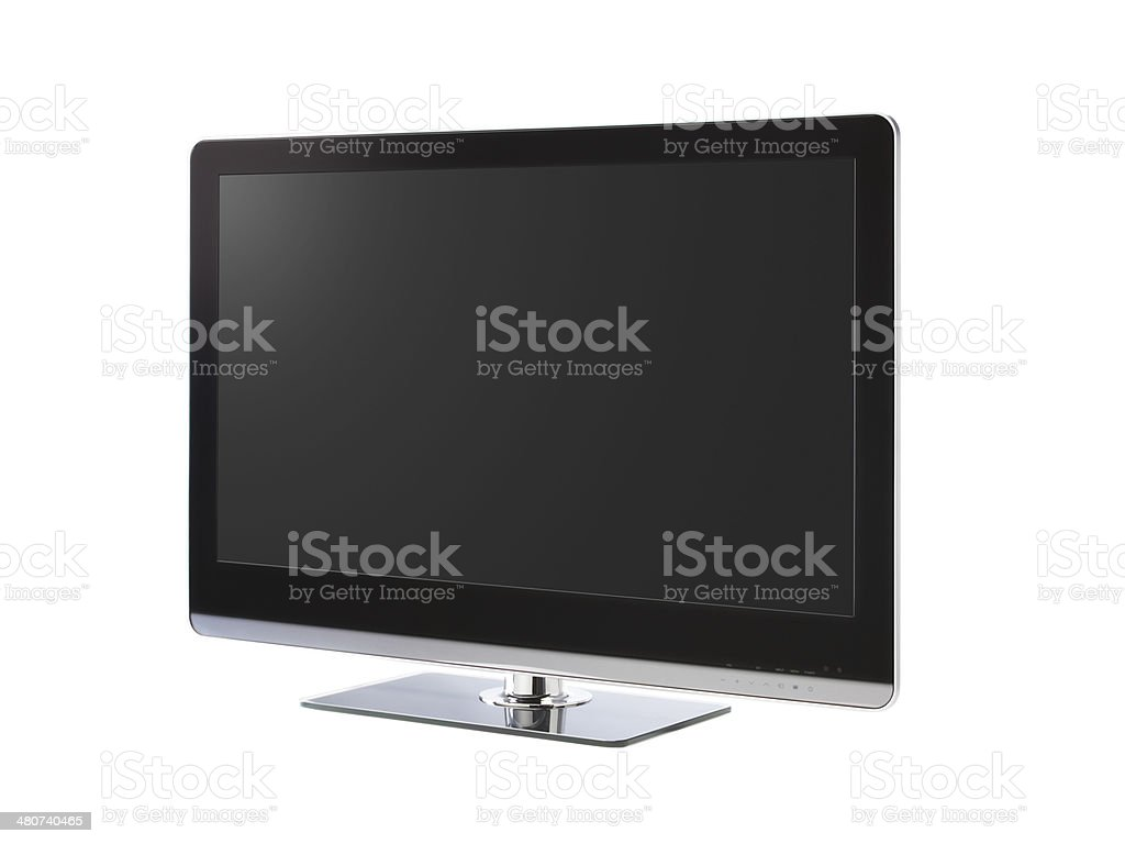 Full HD Led Television with clipping path stock photo