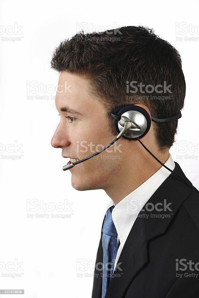Full Head Phone Operator royalty-free stock photo