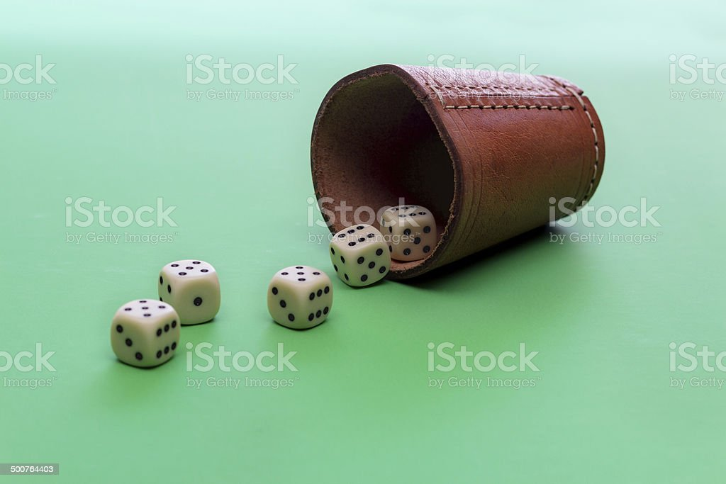 full house good luck dices and shaker gambling success opportunities royalty-free stock photo