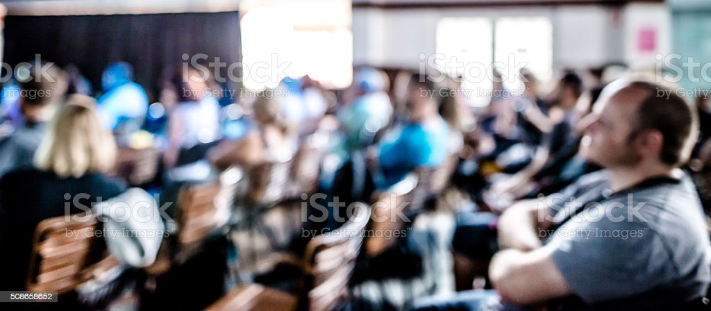 Full Lecture stock photo