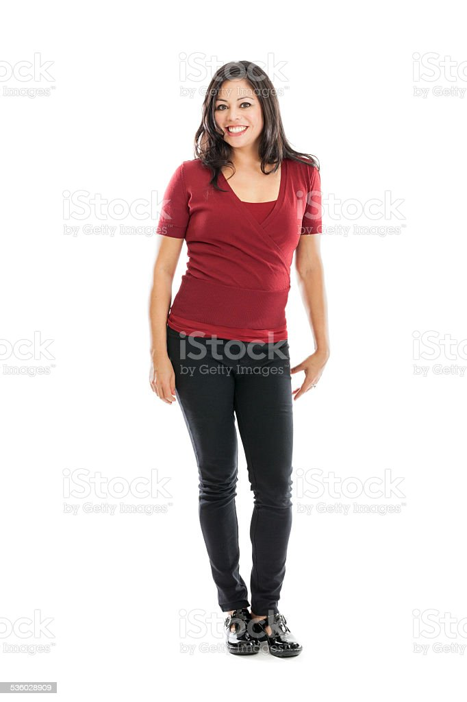 Full length beautiful woman portrait stock photo