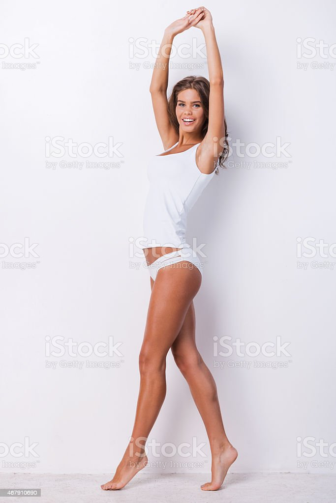Full length beauty. stock photo