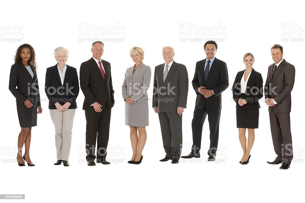 Full Length Group of Business People royalty-free stock photo