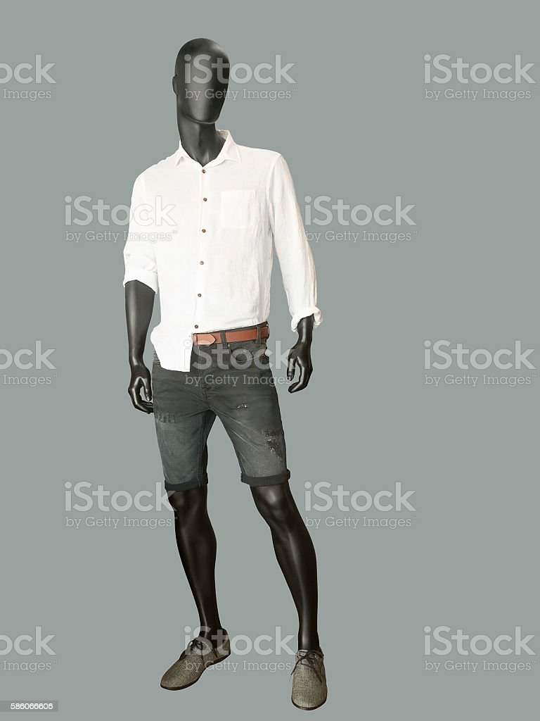 Full length male mannequin stock photo