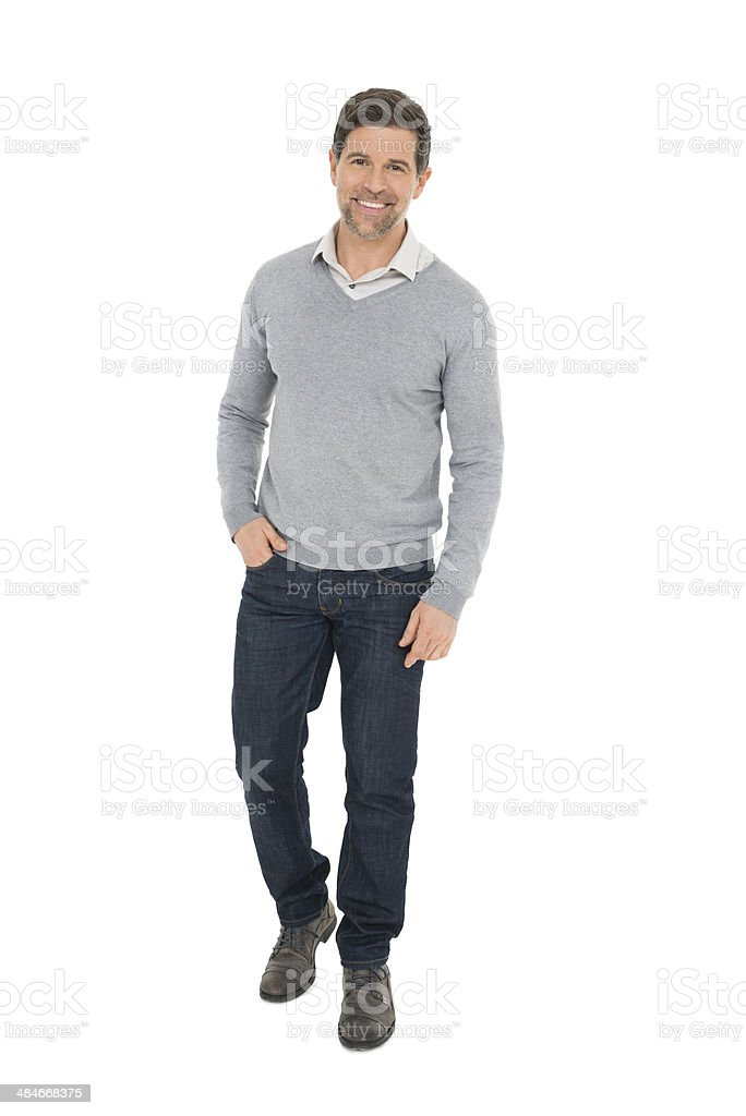 Full Length Mature Businessman stock photo