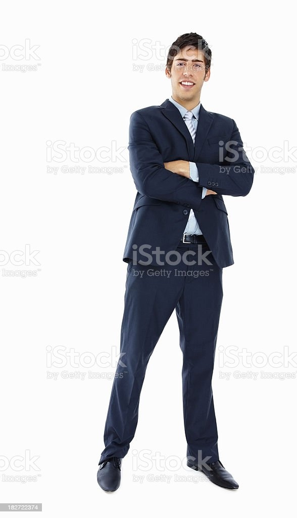 Full length of a confident young businessman royalty-free stock photo